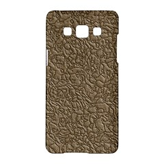 Leather Texture Brown Background Samsung Galaxy A5 Hardshell Case