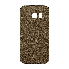 Leather Texture Brown Background Galaxy S6 Edge