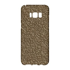 Leather Texture Brown Background Samsung Galaxy S8 Hardshell Case