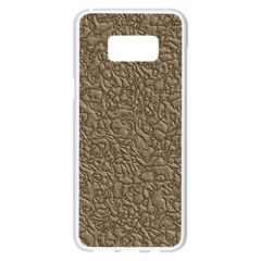 Leather Texture Brown Background Samsung Galaxy S8 Plus White Seamless Case