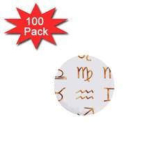 Signs Of The Zodiac Zodiac Aries 1  Mini Buttons (100 Pack)