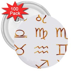 Signs Of The Zodiac Zodiac Aries 3  Buttons (100 Pack)