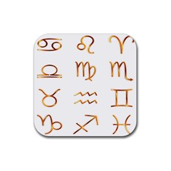 Signs Of The Zodiac Zodiac Aries Rubber Square Coaster (4 Pack)