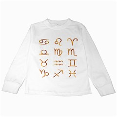 Signs Of The Zodiac Zodiac Aries Kids Long Sleeve T Shirts