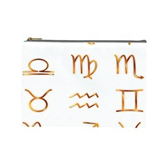 Signs Of The Zodiac Zodiac Aries Cosmetic Bag (large)
