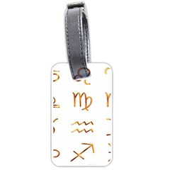 Signs Of The Zodiac Zodiac Aries Luggage Tags (one Side)