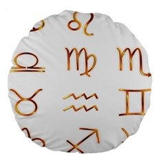 Signs Of The Zodiac Zodiac Aries Large 18  Premium Round Cushions