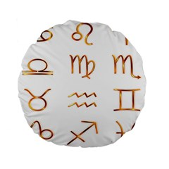Signs Of The Zodiac Zodiac Aries Standard 15  Premium Flano Round Cushions