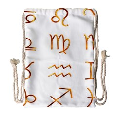 Signs Of The Zodiac Zodiac Aries Drawstring Bag (large)