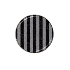 Stripes1 Black Marble & Gray Colored Pencil Hat Clip Ball Marker (4 Pack)