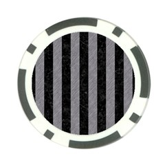 Stripes1 Black Marble & Gray Colored Pencil Poker Chip Card Guard (10 Pack)