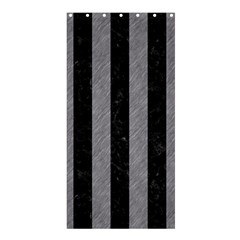 Stripes1 Black Marble & Gray Colored Pencil Shower Curtain 36  X 72  (stall)