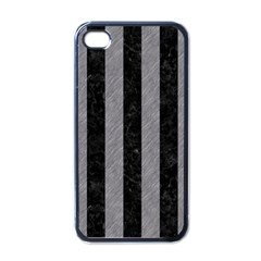 Stripes1 Black Marble & Gray Colored Pencil Apple Iphone 4 Case (black)