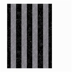 Stripes1 Black Marble & Gray Colored Pencil Small Garden Flag (two Sides)