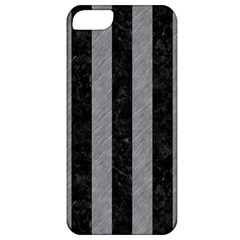 Stripes1 Black Marble & Gray Colored Pencil Apple Iphone 5 Classic Hardshell Case