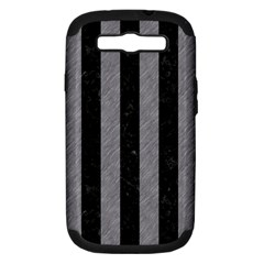 Stripes1 Black Marble & Gray Colored Pencil Samsung Galaxy S Iii Hardshell Case (pc+silicone)