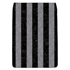 Stripes1 Black Marble & Gray Colored Pencil Flap Covers (l)