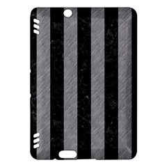 Stripes1 Black Marble & Gray Colored Pencil Kindle Fire Hdx Hardshell Case