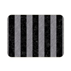 Stripes1 Black Marble & Gray Colored Pencil Double Sided Flano Blanket (mini)