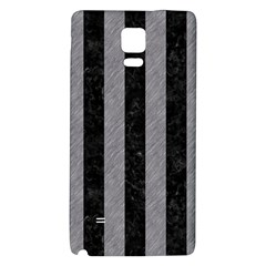 Stripes1 Black Marble & Gray Colored Pencil Galaxy Note 4 Back Case