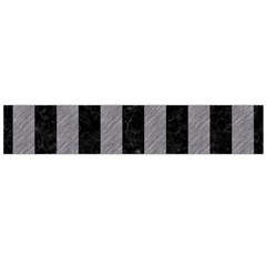 Stripes1 Black Marble & Gray Colored Pencil Flano Scarf (large)