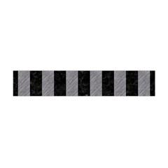 Stripes1 Black Marble & Gray Colored Pencil Flano Scarf (mini)