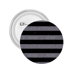 Stripes2 Black Marble & Gray Colored Pencil 2 25  Buttons