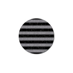 Stripes2 Black Marble & Gray Colored Pencil Golf Ball Marker