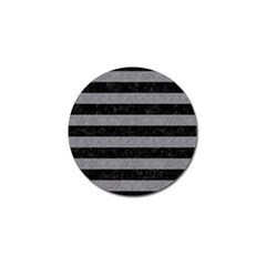 Stripes2 Black Marble & Gray Colored Pencil Golf Ball Marker (4 Pack)
