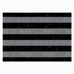 Stripes2 Black Marble & Gray Colored Pencil Large Glasses Cloth (2 Side)