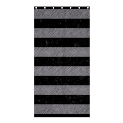 Stripes2 Black Marble & Gray Colored Pencil Shower Curtain 36  X 72  (stall)