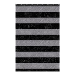 Stripes2 Black Marble & Gray Colored Pencil Shower Curtain 48  X 72  (small)