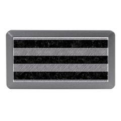 Stripes2 Black Marble & Gray Colored Pencil Memory Card Reader (mini)