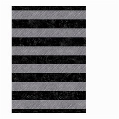 Stripes2 Black Marble & Gray Colored Pencil Small Garden Flag (two Sides)