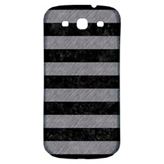Stripes2 Black Marble & Gray Colored Pencil Samsung Galaxy S3 S Iii Classic Hardshell Back Case
