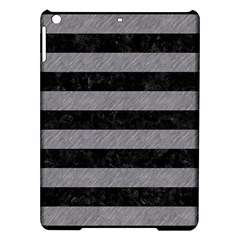 Stripes2 Black Marble & Gray Colored Pencil Ipad Air Hardshell Cases