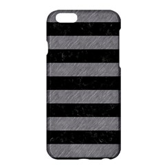 Stripes2 Black Marble & Gray Colored Pencil Apple Iphone 6 Plus/6s Plus Hardshell Case