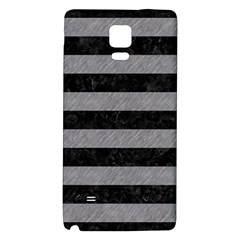 Stripes2 Black Marble & Gray Colored Pencil Galaxy Note 4 Back Case