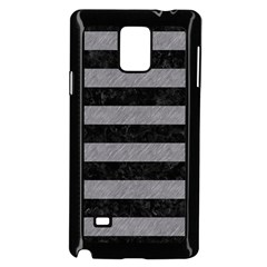 Stripes2 Black Marble & Gray Colored Pencil Samsung Galaxy Note 4 Case (black)
