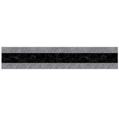 Stripes2 Black Marble & Gray Colored Pencil Flano Scarf (large)