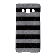Stripes2 Black Marble & Gray Colored Pencil Samsung Galaxy A5 Hardshell Case