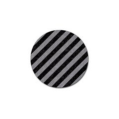 Stripes3 Black Marble & Gray Colored Pencil Golf Ball Marker (4 Pack)