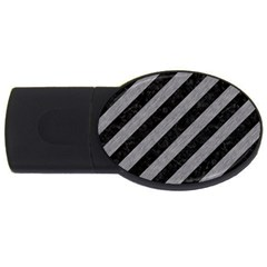 Stripes3 Black Marble & Gray Colored Pencil Usb Flash Drive Oval (4 Gb)