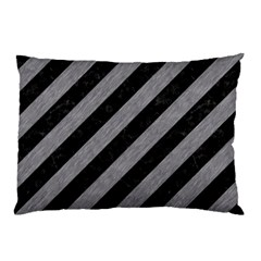 Stripes3 Black Marble & Gray Colored Pencil Pillow Case