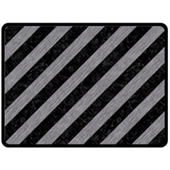 Stripes3 Black Marble & Gray Colored Pencil Fleece Blanket (large)