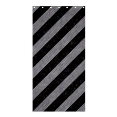 Stripes3 Black Marble & Gray Colored Pencil Shower Curtain 36  X 72  (stall)