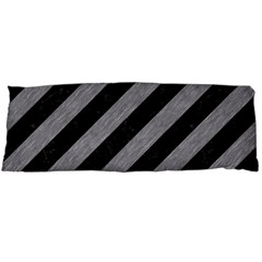 Stripes3 Black Marble & Gray Colored Pencil Body Pillow Case Dakimakura (two Sides)