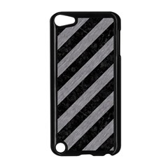 Stripes3 Black Marble & Gray Colored Pencil Apple Ipod Touch 5 Case (black)