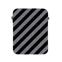 Stripes3 Black Marble & Gray Colored Pencil Apple Ipad 2/3/4 Protective Soft Cases
