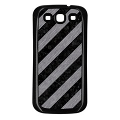Stripes3 Black Marble & Gray Colored Pencil Samsung Galaxy S3 Back Case (black)